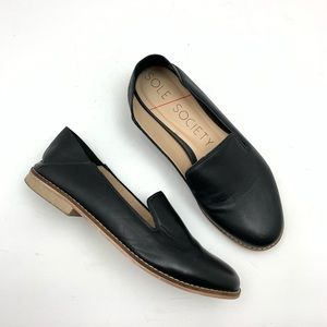 Sole Society Jameson Collapsible Loafers Leather 5